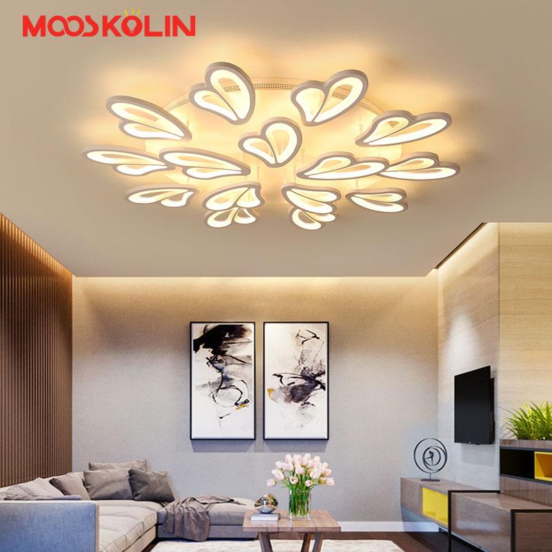 Fashion White Acrylic Modern Led Ceiling Lights For Living Room Luminaria Led Ceiling Lighting Fixtures Lustre Avize Plafondlamp
