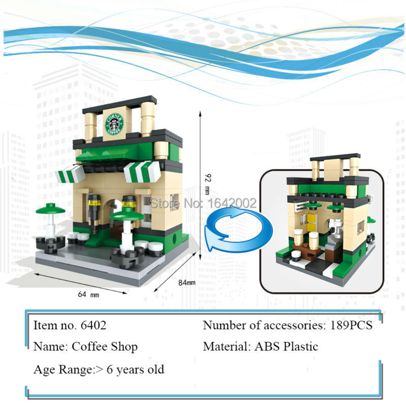 New City Series Mini Street Model Coffee Shop Building Blocks Toys for Children Educational Birthday Christmas gifts