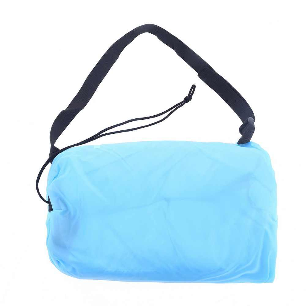 230*70 centímetros Rápido Inflável Preguiçoso saco de Ar Saco De Dormir Camping Portátil Banana Ar Praia Sofá Cama de Ar de Nylon sofá Laybag