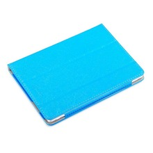 ocube Tri-Fold Extremely Slim Wire Silk line Sample Folio Stand Holder PU Leather-based Case Cowl For Dice U63 9.6 inch Pill PC