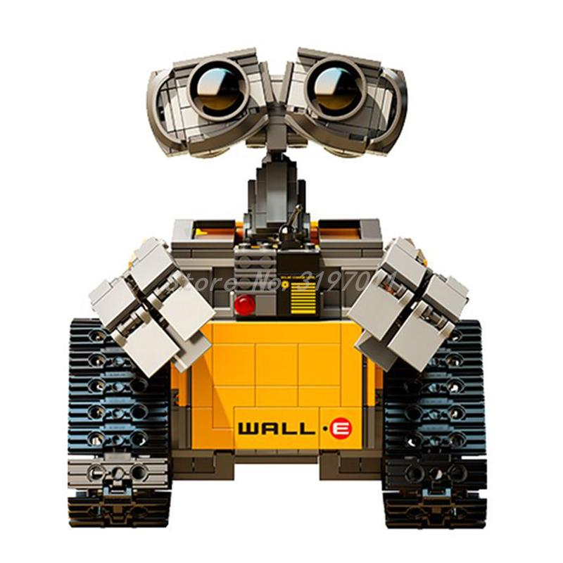 IDEA WALL E Robot Figure Lepin 16003 WALL-E Model Building Blocks Sets Kits DIY Toy for Children Gift Compatible 21303 2017 hot 687pcs compatible 39023 idea robot wall e building set kit toy for children wall e 21303 educational bricks gift