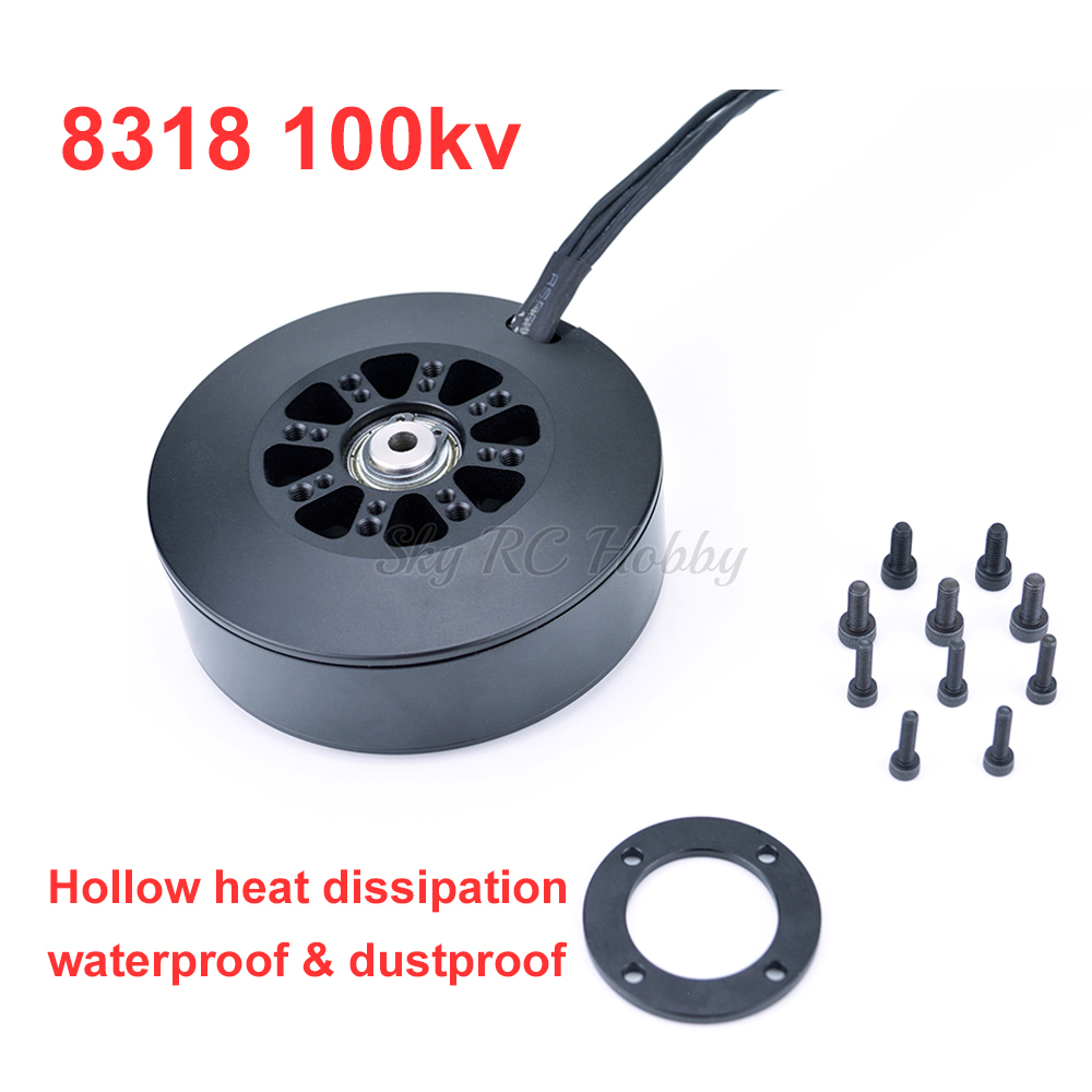 New 8318 <font><b>100KV</b></font> <font><b>Brushless</b></font> <font><b>Motor</b></font> Plant Protection <font><b>Motor</b></font> 3-12S Waterproof Dustproof For Multicopter FPV image
