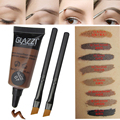 Professional Eyebrow Tint Make Up Eyes Contour Palette  Waterproof Natural Pigment Brown Henna Eyebrow Color Dye With Brushes