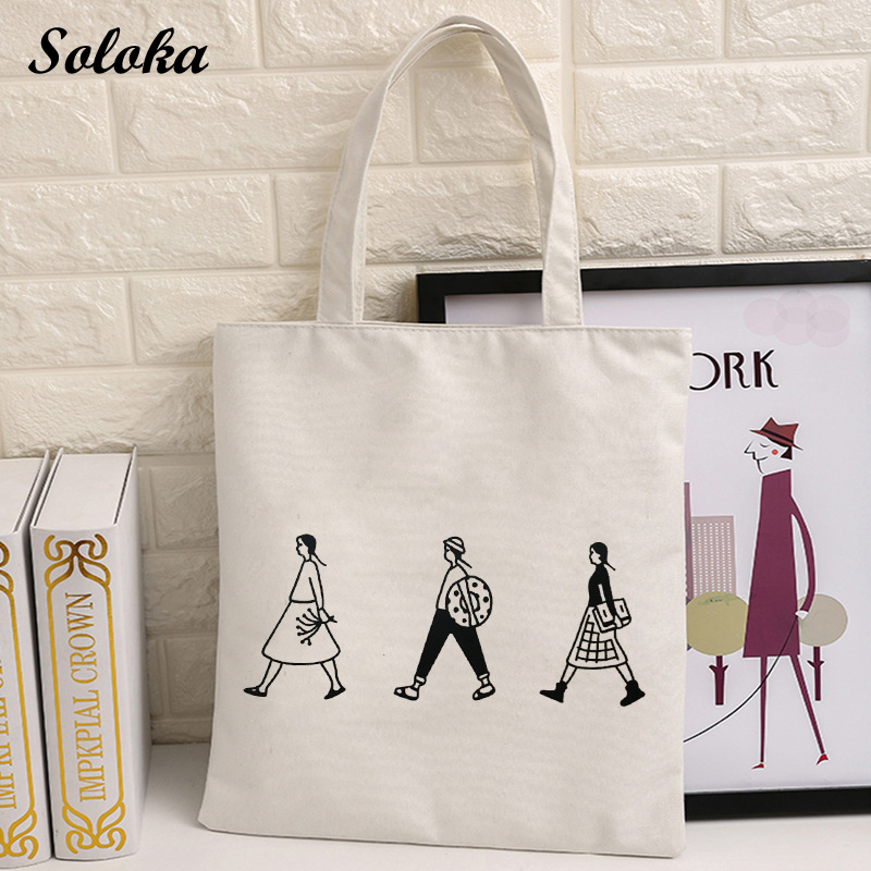 2018 Summer Girls Casual Canvas Shopping Handbags Cartoon Lovely Beach Bags Large Capacity Tote Women Fashion Shopping Bag Bolsa new woman shoulder bags cute canvas women big bags literature and art cartoon girls small fresh bags casual tote