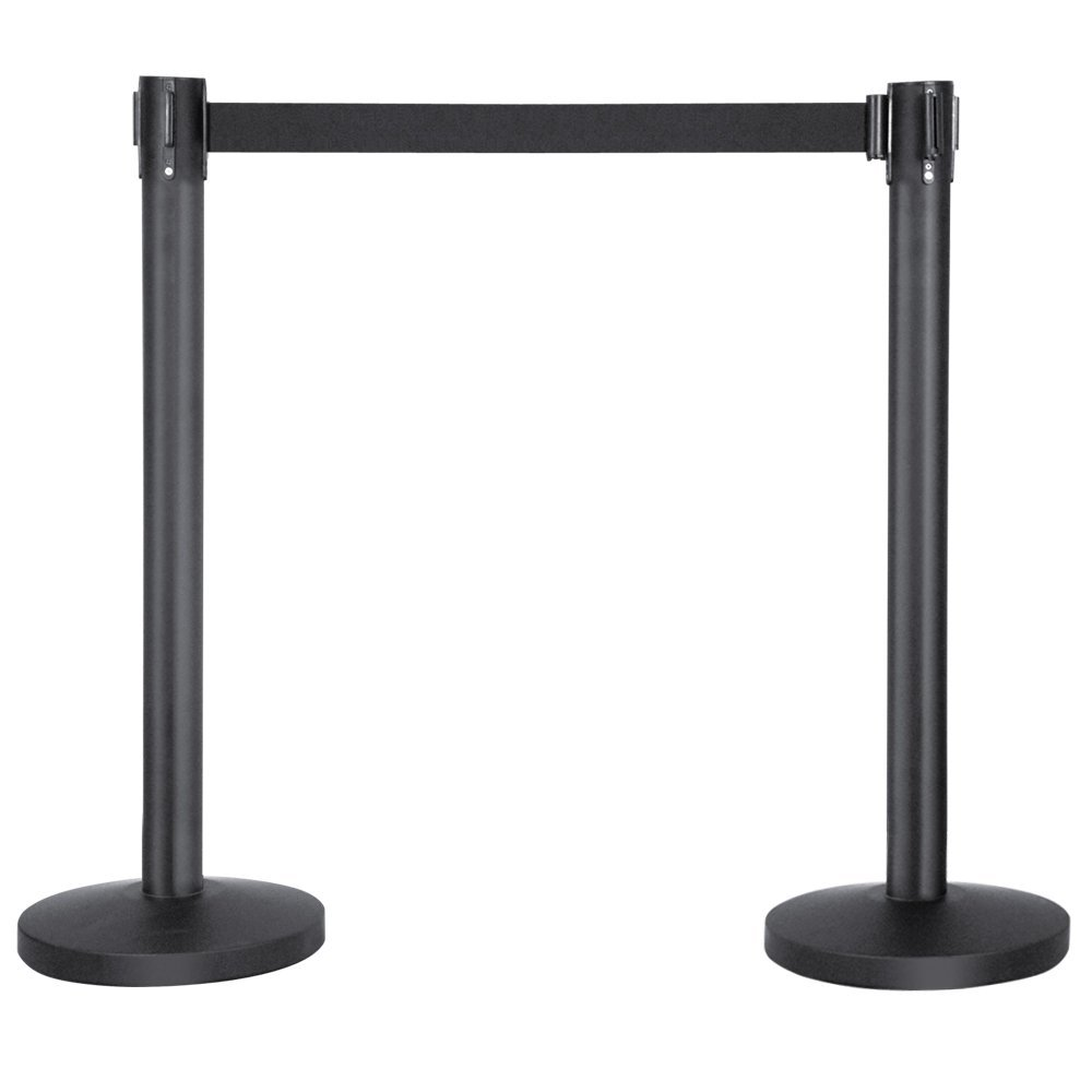 MOOL 2 x Queue Way Pole Crowd Control Retractable Barriers Belt Stanchion Set low price for 2 pcs hotel 3m retractable belt vip crowdcontrol retractable tensa barriers queue way post
