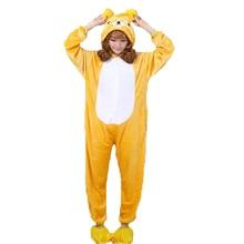 Кигуруми Rilakkuma пижамы животных кигуруми Комбинезоны Косплей комбинезон  пижамы 97243f24819cf