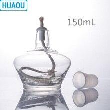 HUAOU 150 мл стеклянная спиртовая Лампа с пластиковой крышкой лабораторное химическое оборудование