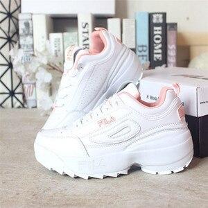 النساء حذاء كاجوال تفلكن رياضية سلة فام 2019 الربيع الخريف العلامة التجارية الأبيض منصة إسفين الدانتيل متابعة الأبيض تنفس امرأة