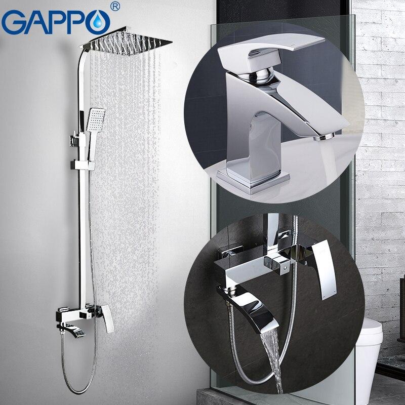 Gappo краны душа ванной смеситель латунный Смесители для ванной смеситель для раковины сантехники люкс