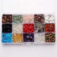 1 Box Mixed Natural Stone Beads Chip for Jewelry Making Mixed Stone 5~8x5~8mm Hole: 1mm