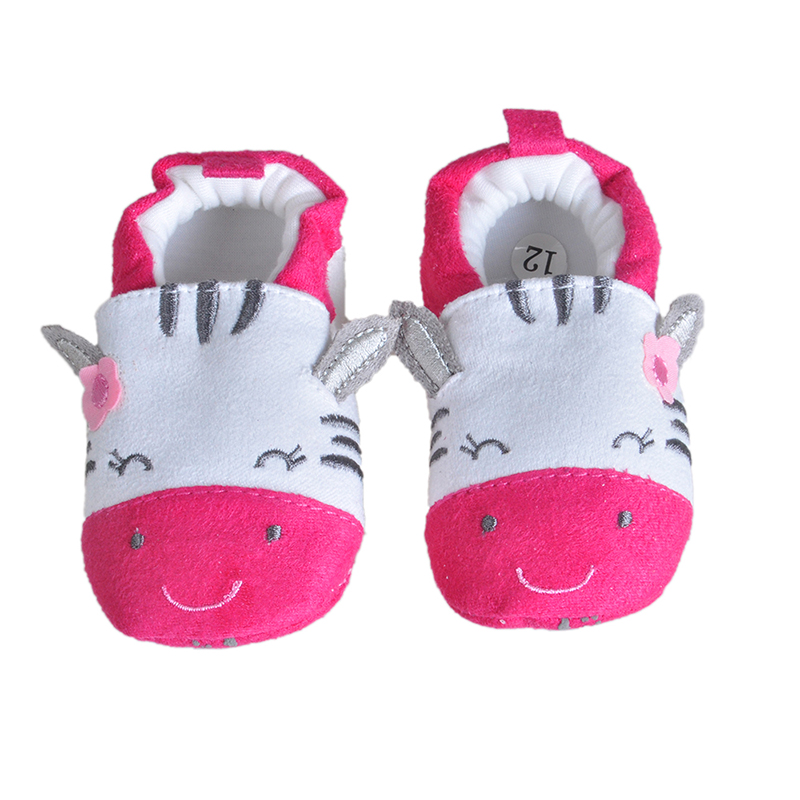 2017 Newy Style Soft Cartoon Baby Boys Girls Infant Shoes Slippers 0-6 6-12 First Walkers Cotton Skid-Proof Kids Baby Shoes