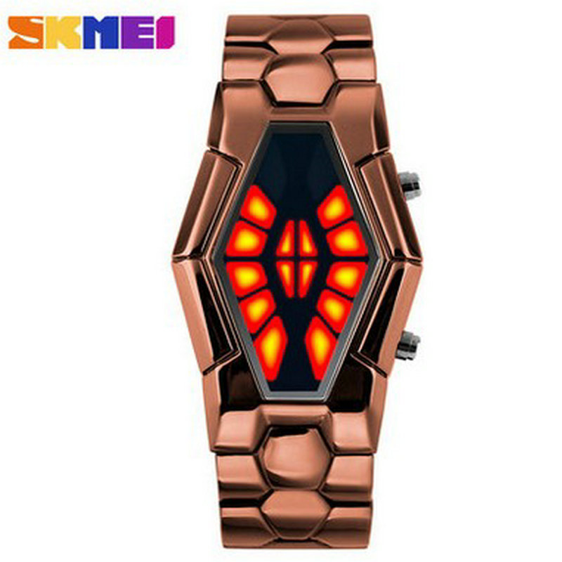 Wholesale Fashion Jewelry New Gold Chain Design Binary Watch For Men
