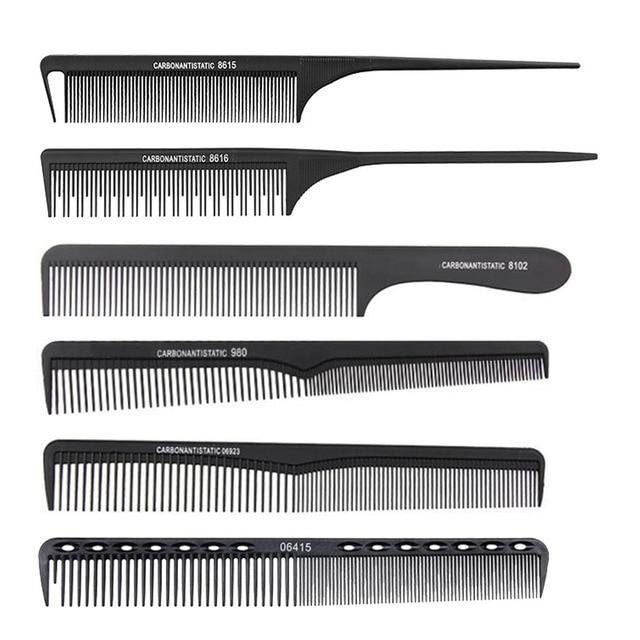 ブラックカーボン繊維抗静的くしサロン理髪櫛帯電防止耐熱バリカン櫛