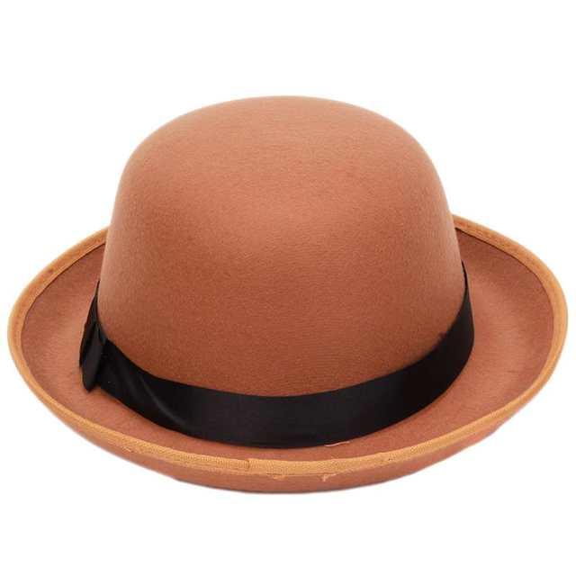 da6ebe15e1d placeholder Vogue Women Girl Vintage Wool Felt Hats Bowler Derby Fedora  Trilby Hat Bowknot Cap Jazz Hats