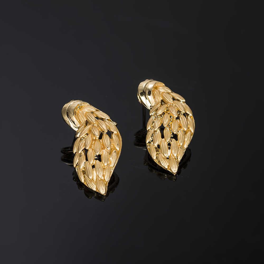 MUKUN موضة طقم مجوهرات أفريقي نيجيريا قلادة القرط دبي طقم مجوهرات الذهب s للنساء مجوهرات الزفاف مجموعة تصميم الزفاف