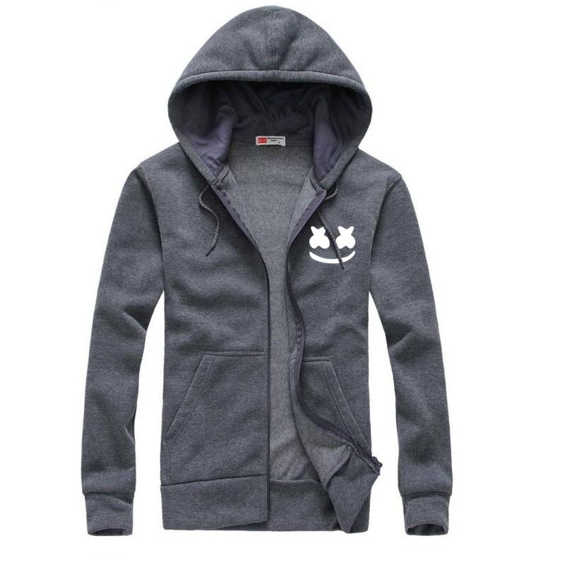 2017 Новый бренд Marshmello лицо Толстовки мужчин Повседневное Slim Fit Толстовки толстовка спортивной мужской флисовая куртка с капюшоном