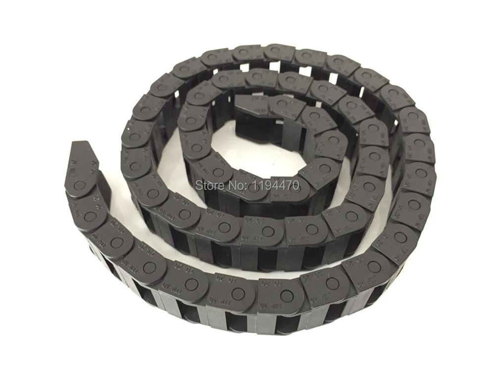 2pcs/Lot 10x20mm R28 Cable Drag Chain Wire Carrier with End Connector 10mm x 20mm L1000mm 40 for 3D CNC Router Machine 1pcs 15x30mm r28 cable drag chain wire carrier with end connector 15mm x 30mm l1000mm 40 for 3d cnc router machine brand new