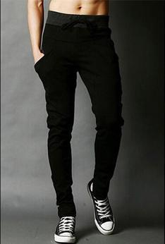Хит, осенние мужские штаны, модные мужские штаны, повседневные облегающие мужские спортивные штаны, большие размеры - Цвет: black