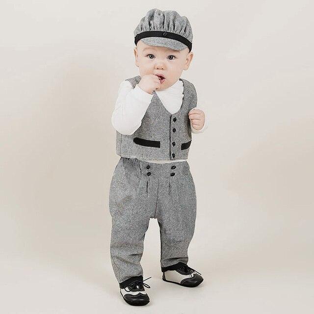 8b68cad514d5 Battesimo abiti per ragazzi gentleman baby boy di compleanno dei capretti  del vestito primavera manica lunga