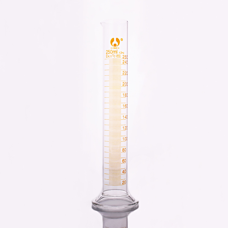High Borosilicate Glass Measuring Cylinder,Capacity 250ml,Graduated Glass Laboratory Cylinder