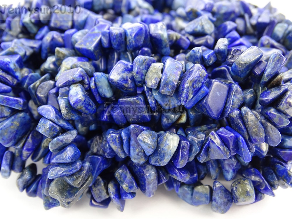 "Natural AAA Lapis Lazuli Gemstone 5-8mm Chip Beads Spacer 35/"" Jewelry Making"