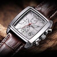 Relogio Masculino Mens Watches Top Brand Luxury JEDIR Men Military Sport Luminous Wristwatch Chronograph Leather Quartz Watch