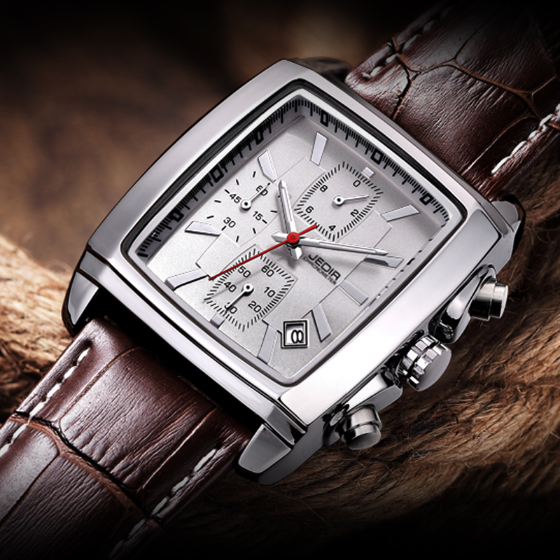 Relogio Masculino Mens Watches Top Brand Luxury JEDIR Men Military Sport Luminous Wristwatch Chronograph Leather Quartz Watch