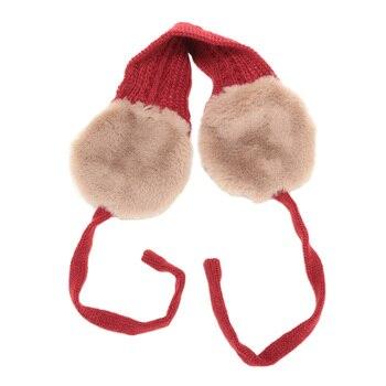 Fashion Girls Lovely Warm Winter Knitted Earmuffs Wool Dual Use Earmuffs Tie Headband Head Wear Accessories oorwarmers meisje