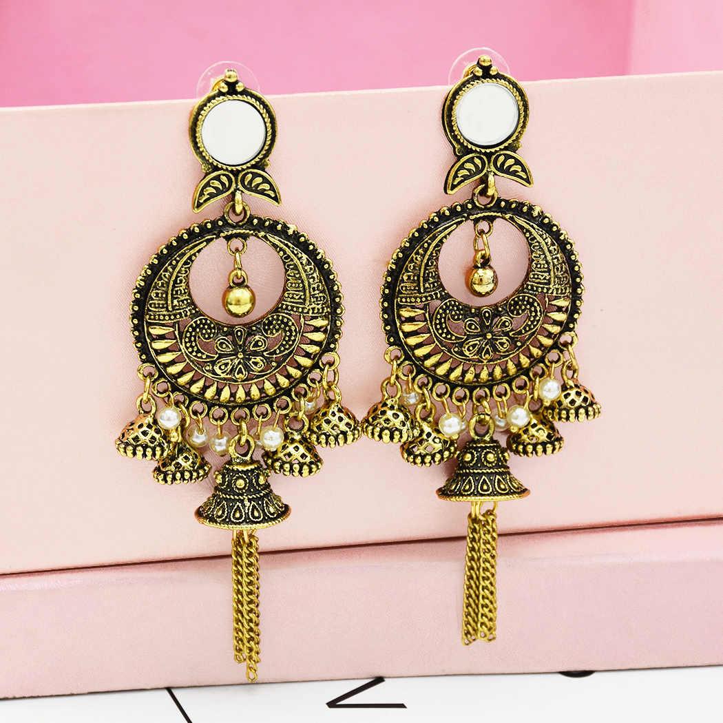 2019 Vintage Drop Dangle Beads Tassel Earrings For Women Bohemian Enamel Jewelry