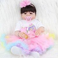 Volledige Siliconen Reborn Poppen voor Meisjes Speelgoed Brinquedos Kinderen Reborn Levend Poppen Babies Geboren Leuke Poupee Prinses Pop Lichaam