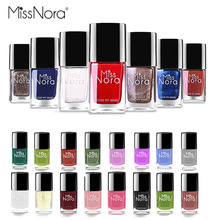 MISS NORA Waterborne Gel Nail Polish Care Base Coat 6ml Natural Avocado Reinforcement Oil Manicure Cure Repair
