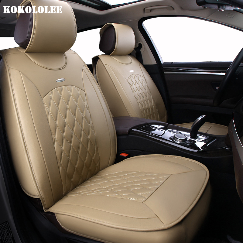 KOKOLOLEE pu leather Car Seat Covers For Mitsubishi All Models ASX Lancer SPORT EX Zinger FORTIS