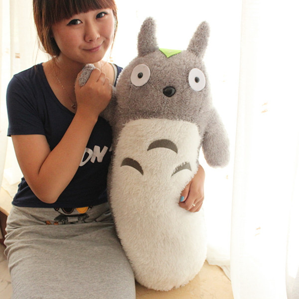 ФОТО large 65cm long cylinder totoro plush toy totoro doll throw pillow, birthday gift t8807