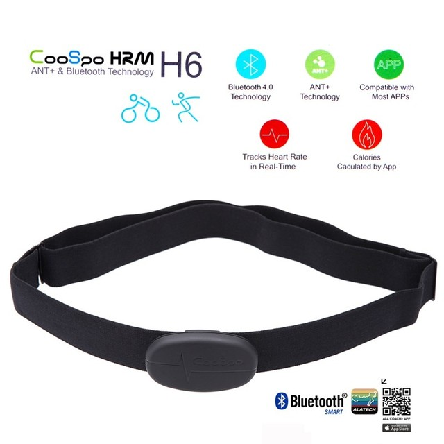 Bluetooth V4.0 Wireless Sport Heart Rate Monitor Fitness CooSpo H6 ANT Smart Sensor Chest Strap for iphone 6 6s xiaomi samsung