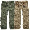 Calças dos homens 2017 Homens Marca de Moda Calças de Comprimento de Carga Militar Do Exército Camuflagem Pant Corredores Sweatpants Casual Calças Táticas