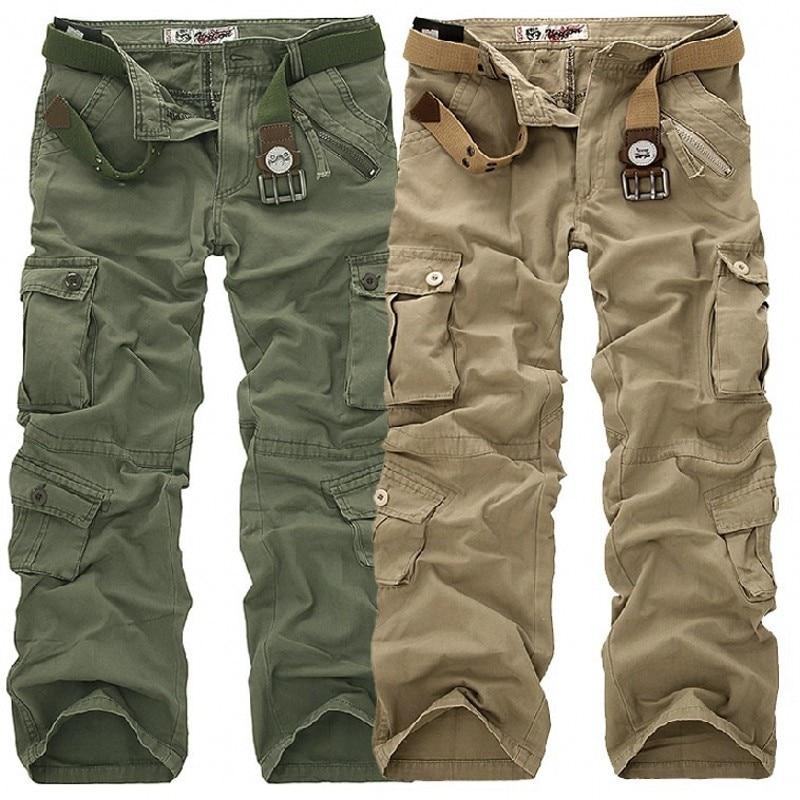 Erkek Pantolon 2019 Moda Marka Erkek Uzunluğu Pantolon Ordu Askeri - Erkek Giyim