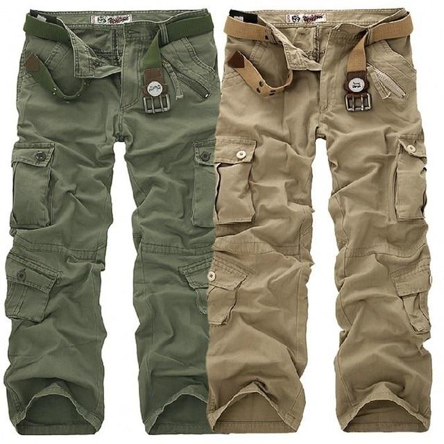 Men's Pants 2019 Fashion Brand Men Length Trousers Military Cargo Camouflage Pant Joggers Sweatpants Casual Tactical Pants