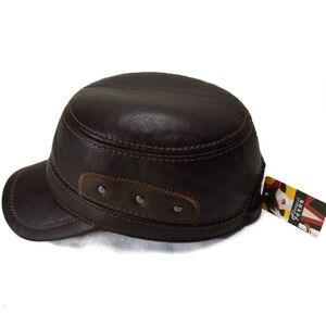 Image 3 - Бейсболки Фибоначчи для мужчин, Высококачественная кожаная кепка в стиле пэчворк с регулируемой плоской подошвой, зимние кепки, Снэпбэк Кепка для папы среднего возраста