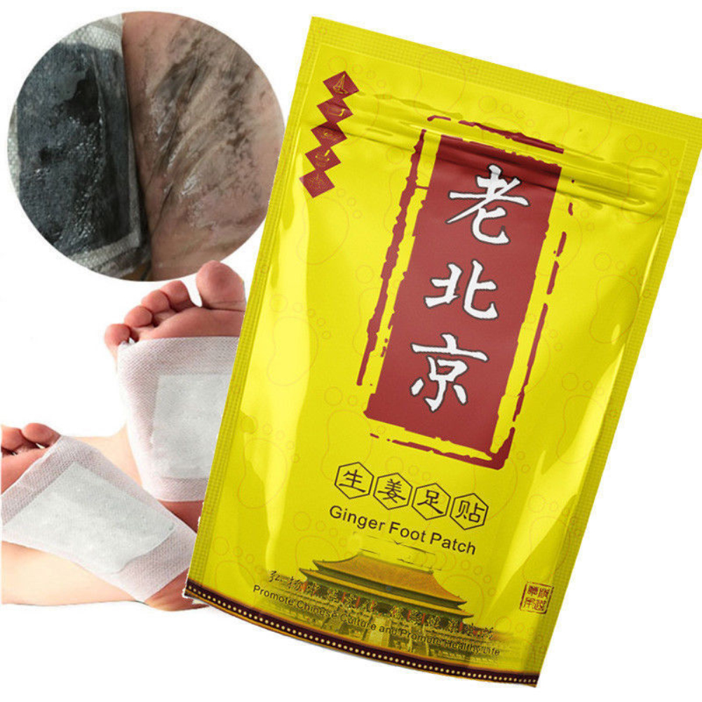 10 Pcs Detox Loss Weight Foot Patch Improve Sleep Old Beijing Ginger Foot Patch Anti- Swelling Revitalizing  TSLM2