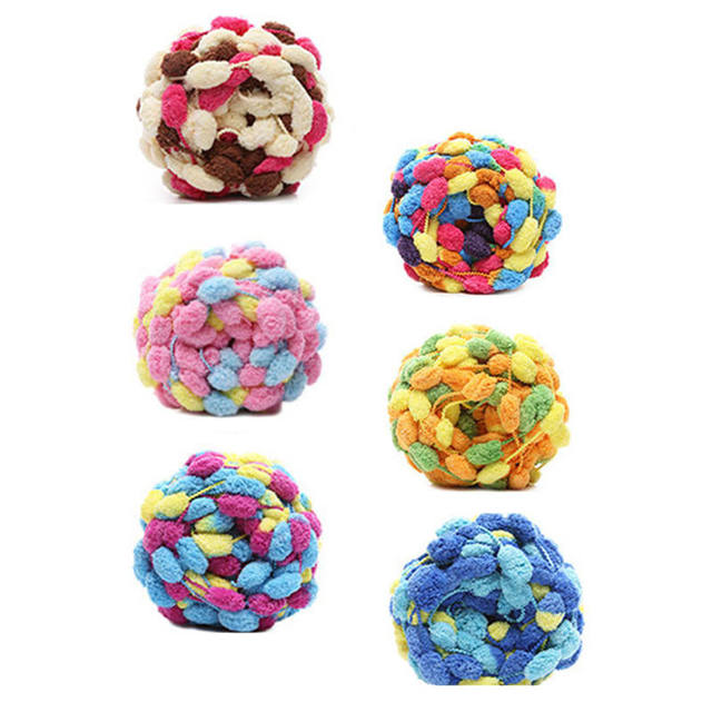 DoreenBeads Soft Pom Pom Ball Yarn Crochet Knitting DIY Shoes Hat Scarf Cushions Blanket Baby Kid about 130g 1PC (1Roll= 1PC)