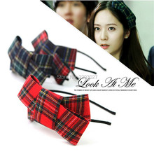 Korean Cute Plaid Bow Hair Jewelry Hairpin Headwear Headbands Hair Accessories For Girls