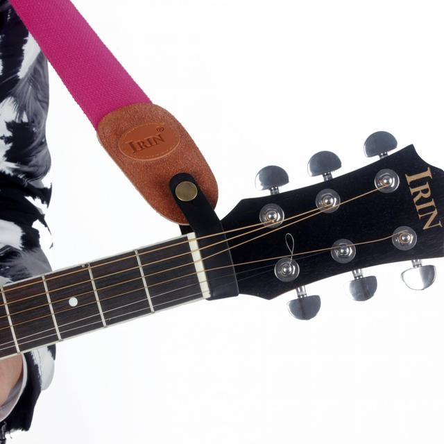 Black Leather Guitar Safety Strap