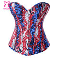 Topos bustier do espartilho apertado lacing corselet corzzet denim gótico barato sexy burlesque espartilhos e corpetes korsett para as mulheres