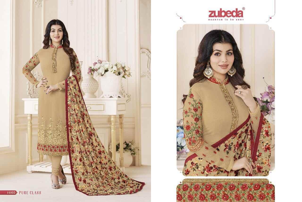 53842218c5 ... ZUBEDA Indian Pakistan Dress Designer Women Flower Embroidery Churidar Salwar  Kameez Stitched Suit Bollywood Ethnic Party ...