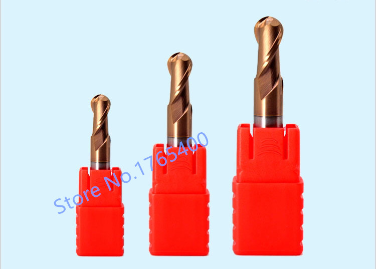 New 1pcs HRC55 Ball Nose End Milling R0 5 R0 75 R1 R1 25 R1 5 R2 R2 5 R3 R4 R5 Carbide End Mill Tungsten Steel Milling cutter in Milling Cutter from Tools