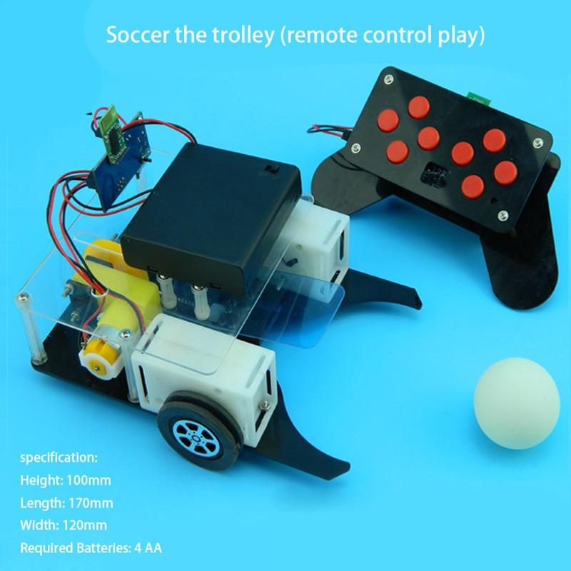 Football cart remote control robot football science model DIY scientific experiments for schoolchildren peppa plays football