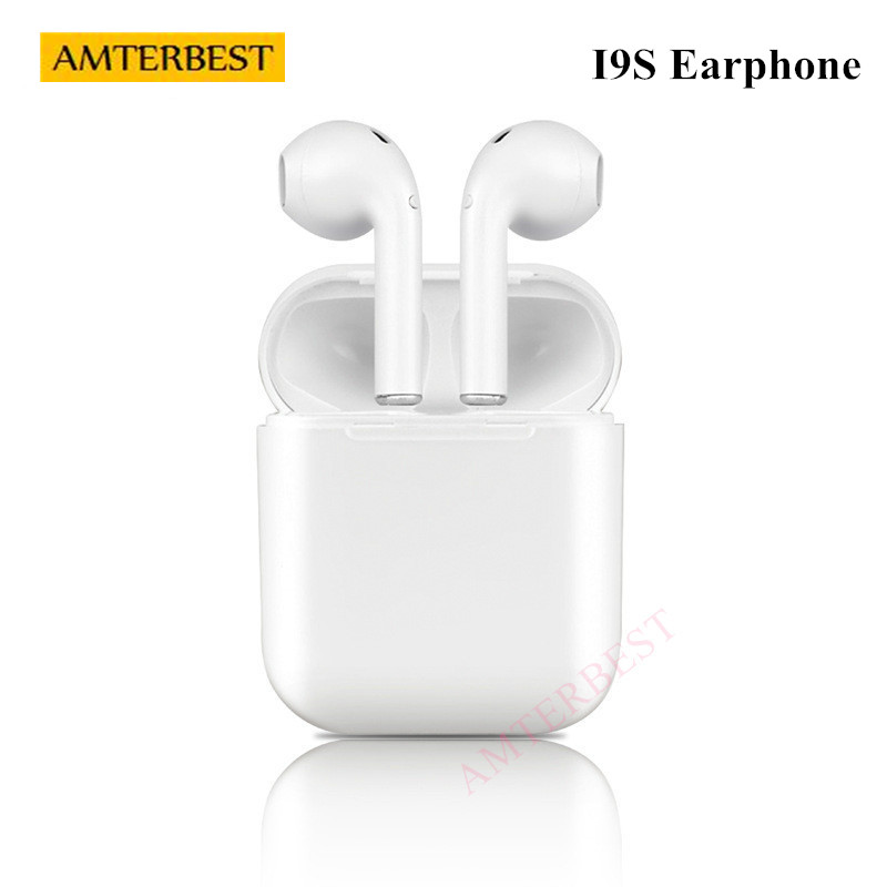 AMTERBEST Wireless Earphone Bluetooth Headset In-Ear Invisible Earbud Sports Headphone for IPhone Samsung Android Smartphones
