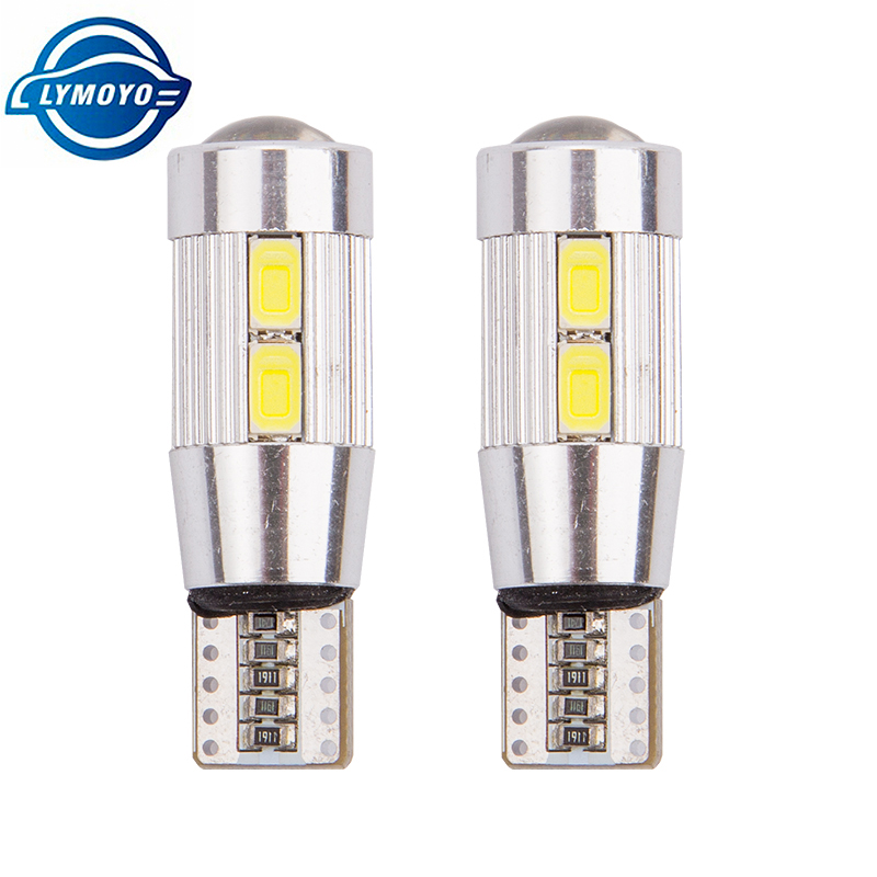 LYMOYO 100pcs T10 5630 10smd Led Canbus Car Smd Light W5W Bulb No Obc Error clearance