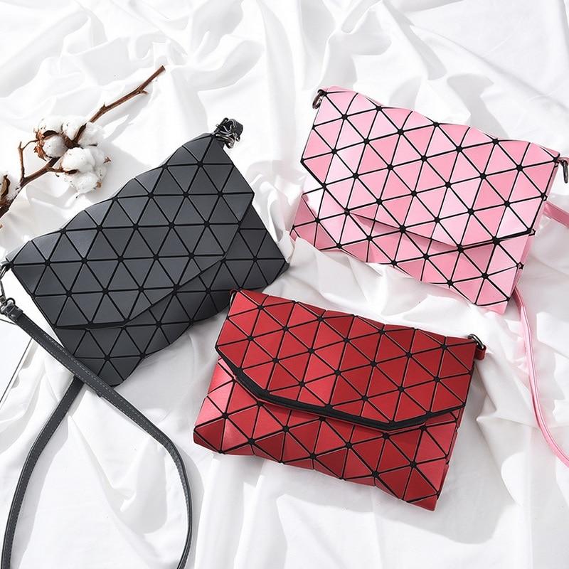 Matte Designer Women Evening <font><b>Bag</b></font> Shoulder <font><b>Bags</b></font> Girls Bao Bao Flap Handbag Fashion Geometric BaoBao Casual Clutch Messenger <font><b>Bags</b></font>
