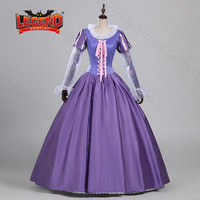 Adult Rapunzel Fancy Women Dress Cosplay Costume For Women Princess Tangled Purple Outfit custom made
